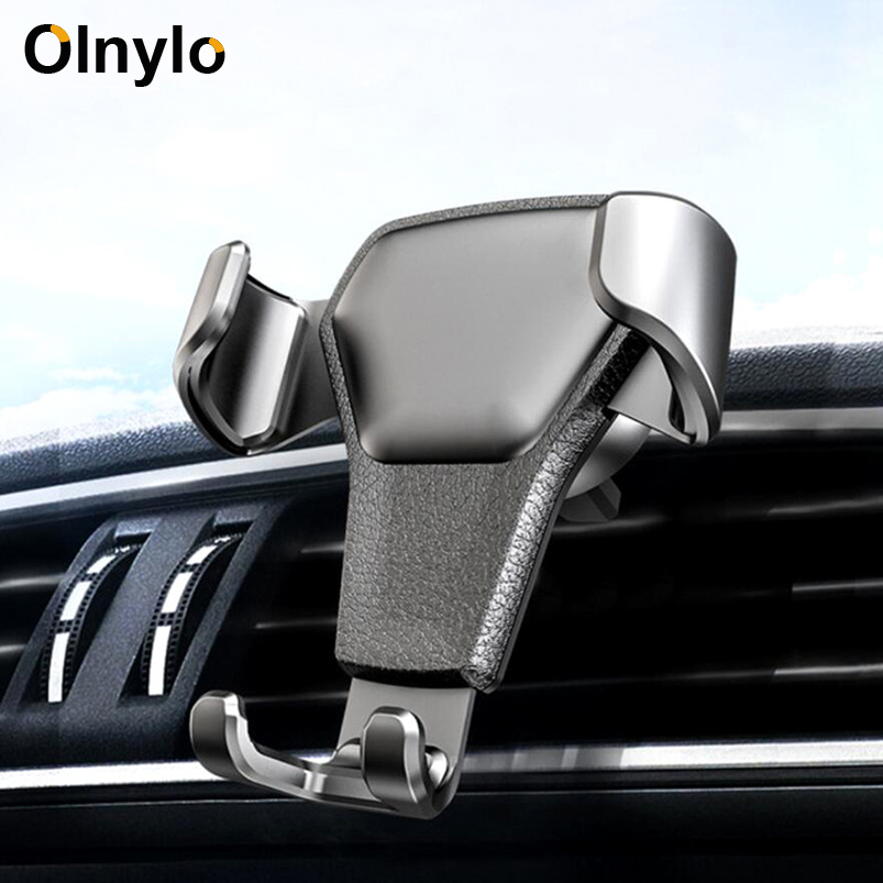 Olnylo Gravity Car Holder For Phone In Car Air Vent Clip Mount Mobile Phone Holder Cell Stand Support For IPhone X 10 8 7 Plus