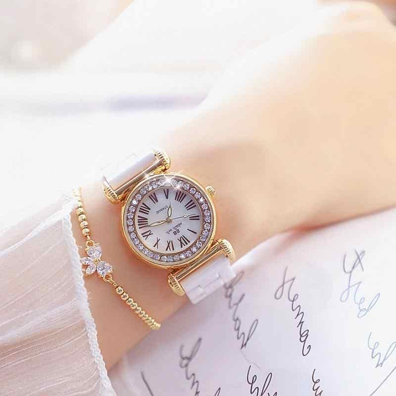Nuovo Delle Donne di Ceramica Orologi di Marca Di Lusso Charming Delle Signore Orologi Al Quarzo di Modo Delle Donne casual Vestito Orologio Da Polso Reloj Mujer 2019
