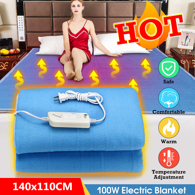 110V/220V Electric Heating Blanket Double Single Warm Heater Waterproof Temperature Adjustable Winter Flannel Bed Heated Pad