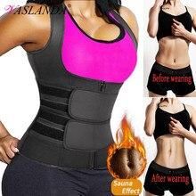 Ter bel eğitmen yelek zayıflama kilo kaybı için korse vücut şekillendirici Sauna takım sıkıştırma gömlek göbek kuşak Tops Shapewear