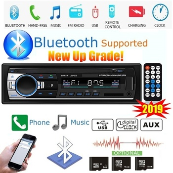 Bluetooth Autoradio Car Stereo Radio FM Aux Input Receiver SD USB JSD-520 12V In-dash 1 Din MP3 Multimedia Player Audio image