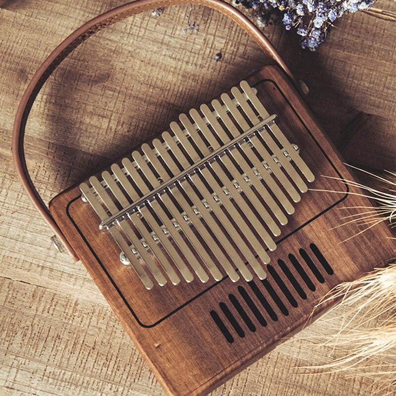 17 sleutel Creatieve Kalimba Piano effen Zwarte walnoot hout Kalimba Duim Piano Muziek Gift Student populaire Mooie - 2