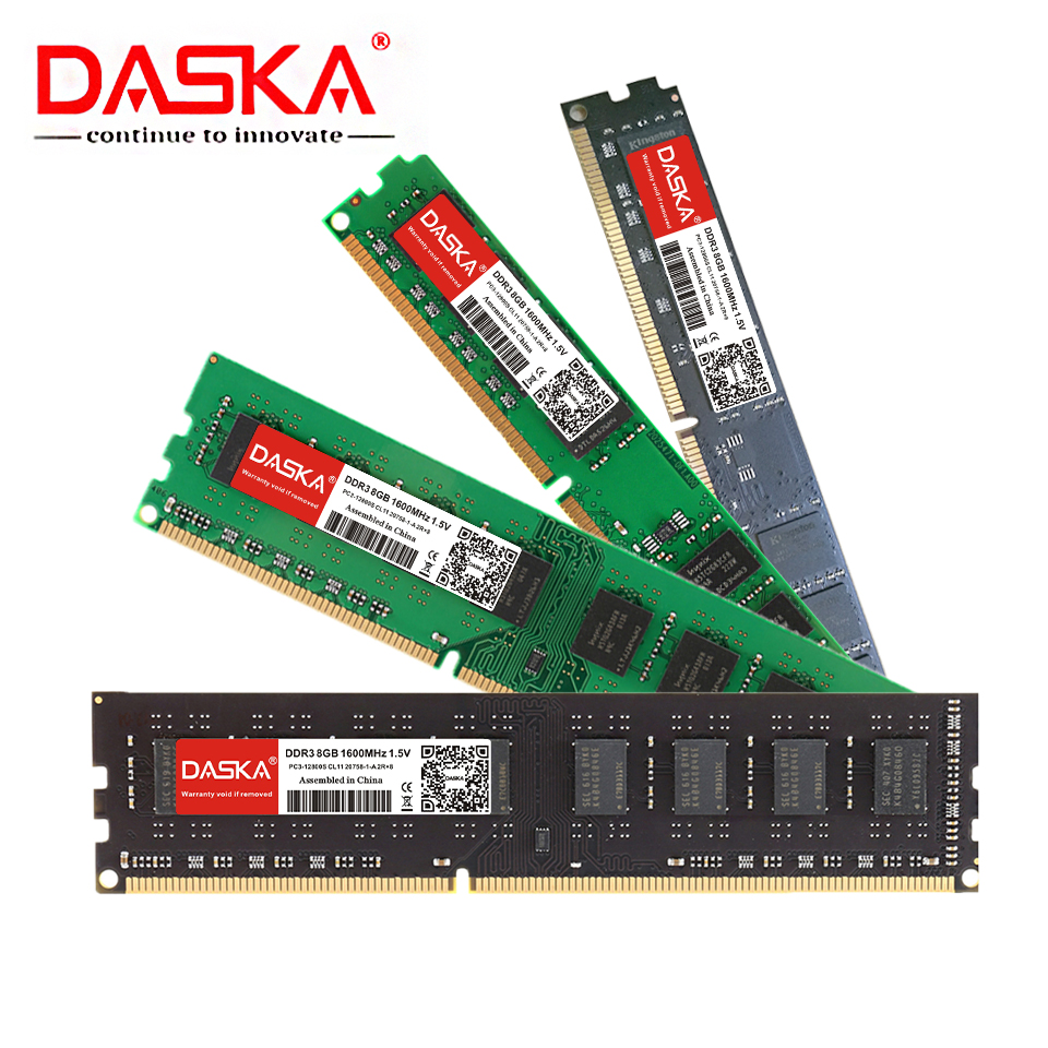 DASKA DDR3 Desktop Memory RAM with 8GB/4GB/2GB Capacity and 1600/1333MHz Speed 12