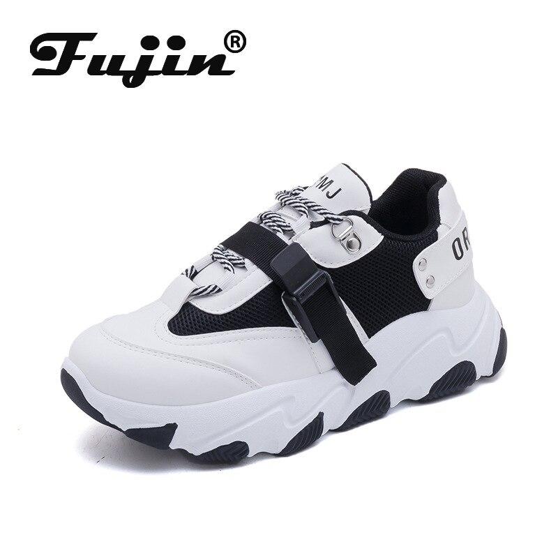 Fujin Women Sneakers buckle stripe 2020 Designer Vulcanized Shoes Women Casual Shoes Platform Sneakers Female