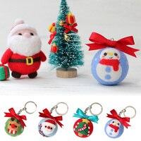Relajado DIY para muñecas de fieltro de lana sin terminar hecho a mano Kit para manualidades muñeco de nieve de juguete muñeca de lana de fieltro de aguja Kit de decoración de Navidad