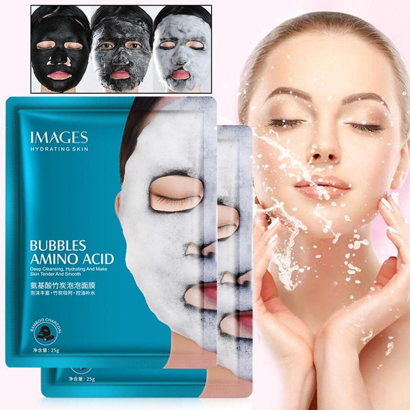 Amino Acid Bamboo Charcoal Bubble Mask Refreshing Oil Control Moisturizing Hydrating Mask