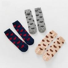1 Pairs Newborn Baby Socks Knee High Boy Girl Infant Toddler Heart Printed Socks Anti Slip Fashion Sock Cute Soft Sock for 0-3T цены