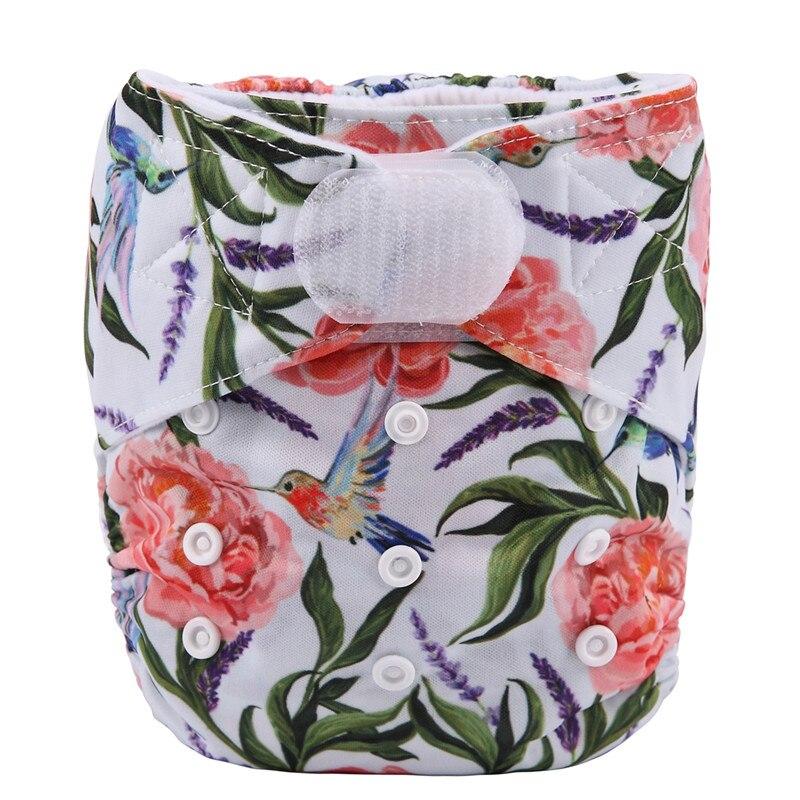[Sigzagor] 1 тканевый подгузник с карманами для детей, подгузник с застежкой-липучкой, с широкими полосками на талии - Цвет: DV13