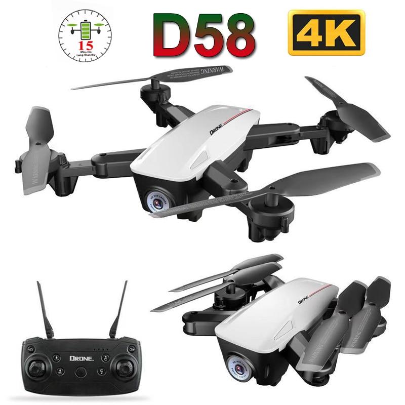 2019 neue D58 Professionelle Faltbare Drohne mit Kamera 4K 1080P HD WiFi FPV Optischen Fluss RC Quadcopter Hubschrauber spielzeug E520S SG106