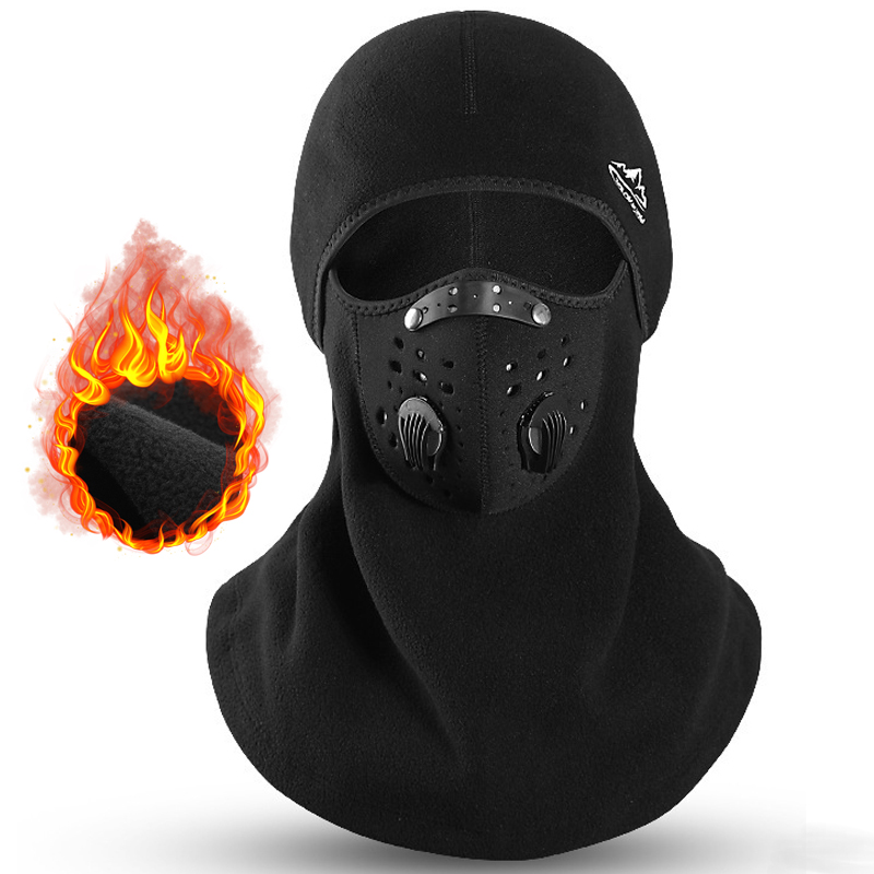 Cycling Face Mask Activated Carbon Sport Face Mask With Filter Bicycle Mask Anti-Pollution Dustproof Breathing Protection Mask