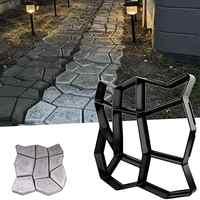 "13.4""x13.4""x1.42"" Reusable Concrete Path Maker Walk Molds Stepping Stone Paver Lawn Patio Yard Garden DIY Walkway Pavement"