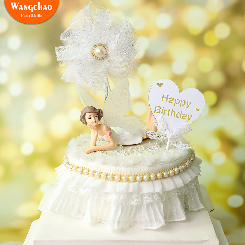 Admirable Romantic Mesh Pearl Lace Love Heart Theme Happy Birthday Cake Funny Birthday Cards Online Elaedamsfinfo