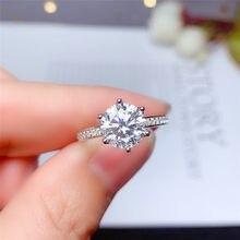 LeeChee – bague en Moissanite avec certificat couleur D VVS1 pour femmes, excellente coupe, diamant de laboratoire, en argent massif 925, cadeau de fiançailles