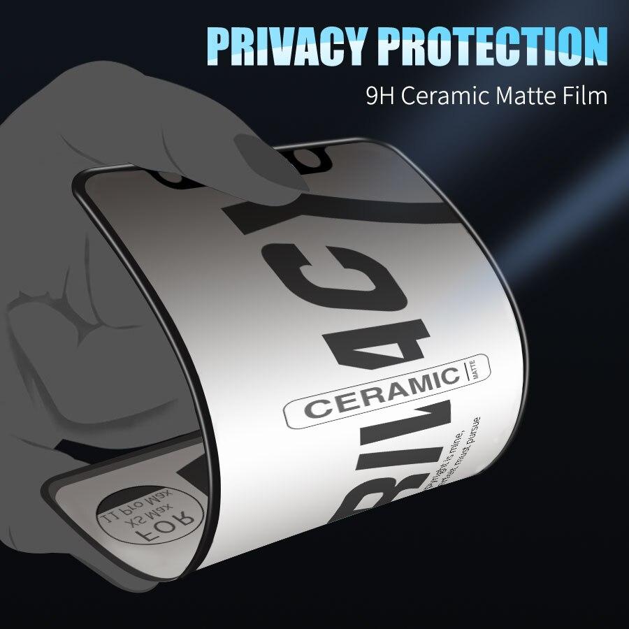 Матовые мягкие керамические защитные пленки для IPhone 11 Pro Max 12 Pro Max X XS XR 7 8 6 S Plus SE, антишпионская защитная пленка
