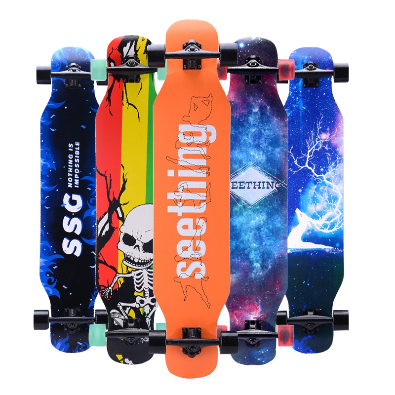 Professional Skateboard Street Road Longboard Maple Skate Board 4 Wheel Downhill Dancing Long