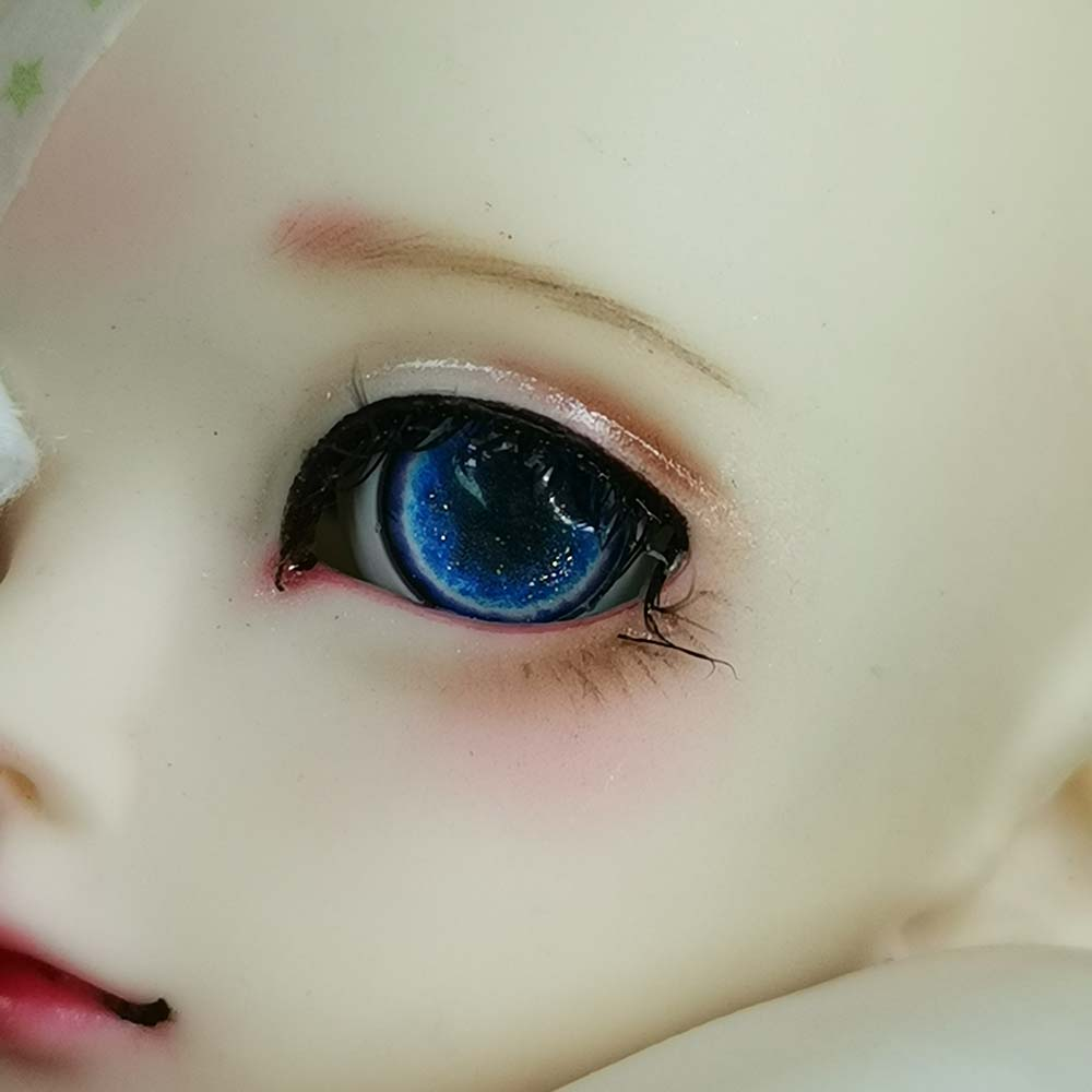 Good-quality 8mm Deep Green Glass BJD Eyes for OOAK BJD Doll