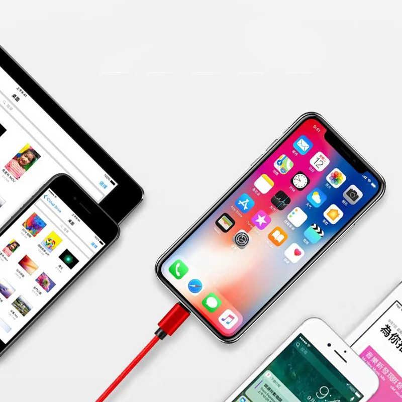 Làm Đẹp Bện Nylon USB Loại C 1M 2M 3M Dữ Liệu Đồng Bộ Sạc Nhanh USB C dành Cho Samsung S10 Xiaomi Mi9 Mi8 Huawei Loại-C