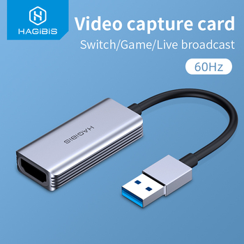 Hagibis Video Capture Card USB 3.0 4K HDMI-compatible Video Game Grabber Record for PS4 Camcorder Switch Live Broadcast Camera 1