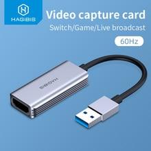 Cartão de captura de vídeo habilis usb 3.0 4k hdmi-compatível grabber jogo de vídeo registro para ps4 camcorder switch transmissão ao vivo câmera