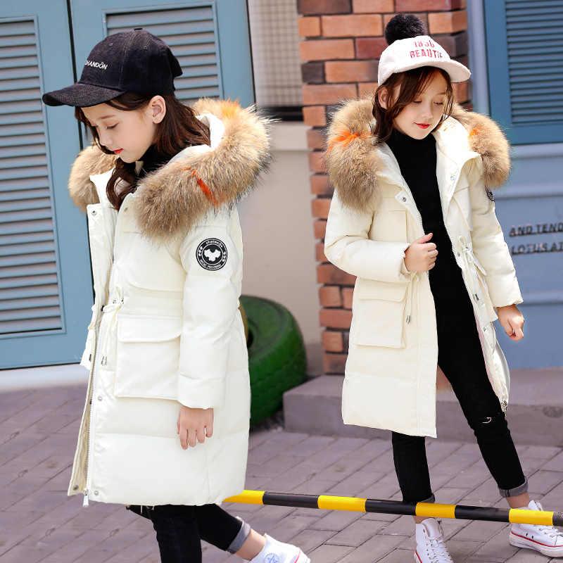 OLEKID 2019 ruso invierno niños niñas abrigo 5-14 años niños adolescentes abajo chaqueta para niña Manteau Enfant fille Hiver