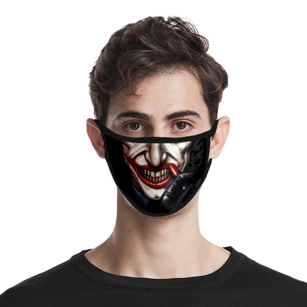 Joker Sorridente Viso Maschera 3D Stampa Cosplay Batman The Joker Maschere Accessori Antipolvere Influenza di Lavaggio Stampata Lavabile Viso Maschera