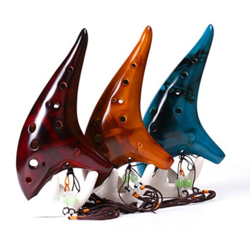 12 отверстий, Дымчатая подводная лодка Ocarina, Стильный музыкальный инструмент, для любителей музыки, для начинающих, инструмент T8
