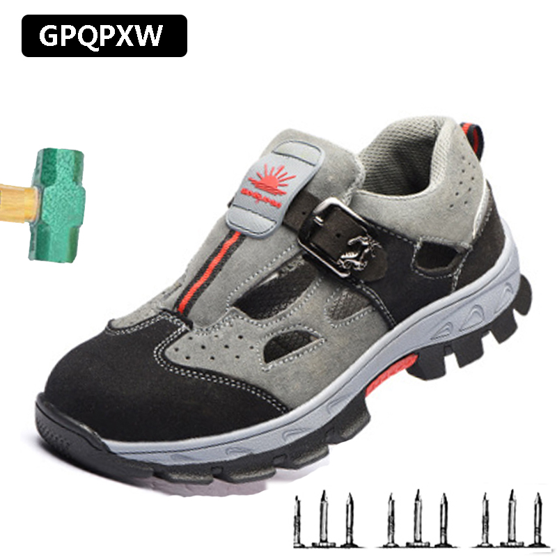 2019 Summer Breathable Deodorant Safety Shoes Casual Non-slip Men's Work Boots Wear Labor Insurance Sandals