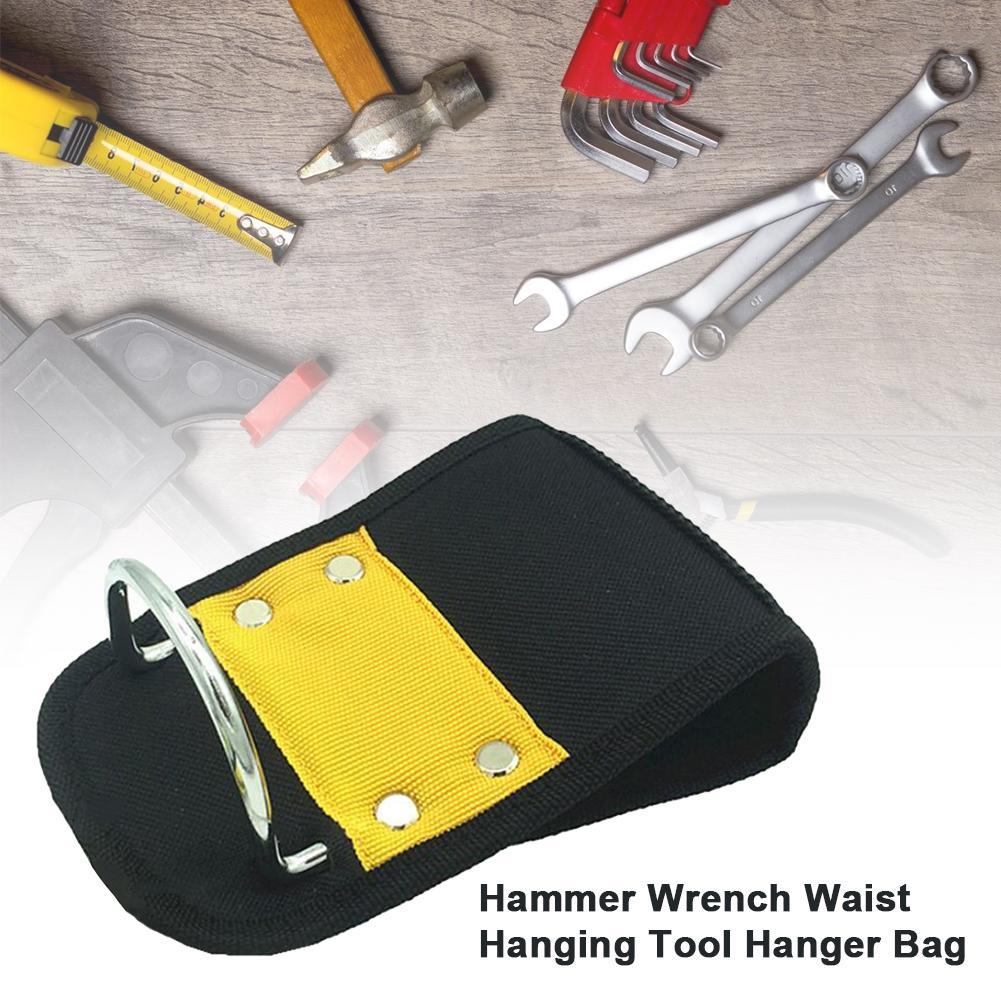 Hammer Holder Lightweight Heavy Duty Tool Holster With Metal Hooks Hammer Wrench Waist Hanging Tool Hanger Bag