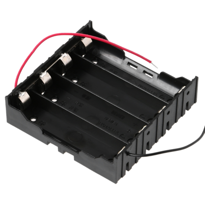 3.7V Parallel 3x 4x 18650 Batteries Holder Box Storage Case Container With Wire DXAC