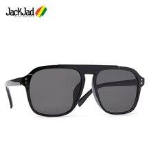 JackJad 2020 Fashion Cool Square Pilot Style Tint Sunglasses Two Dots Men Vintag