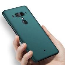 Para htc u12 plus caso de luxo fosco duro caso capa para htc u11 plus/u11 capa traseira capa protetora do telefone capa