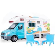 1:32 Scale Sprinter Luxury Motorhome Recreational Vehicle RV Trailer Caravan Alloy Metal Diecast Car Model Babys Toys 100