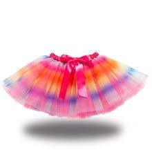 Girls Tutu Skirt Kids Ballet Princess Pettiskirt fluffy tulle Skirts Lovely Ball Gown Children Gradiet Clothing Baby Clothes