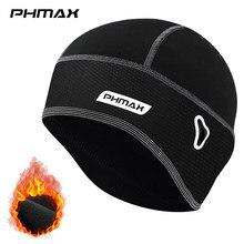 Phmax冬サイクリングキャップ防風保温スキーキャップランニングスキー乗馬熱フリース帽子バイク自転車キャップサイクリング帽子
