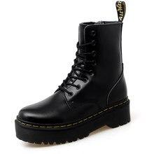 Classique Femmes Bottes cuir véritable bottines hauteur augmentant chaussures Martens Femmes Bottes moto Bottes Femmes Bottes