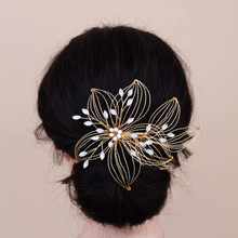 TRiXY H257 Elegant Wired Crystal Rhinestone Wedding Hair Comb Handmade Wedding Hair Pin Bridal Headpieces Wedding Hair Jewelry