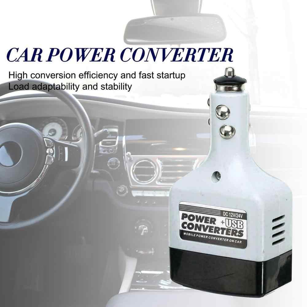 2019 nuevo 12 V/24 V coche adaptador de inversor de energía móvil Auto coche cargador de convertidor de energía utilizado para todos los teléfonos móviles
