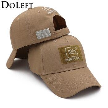 Outdoor Classic Tactical Baseball Cap Men Sun Visors Golf Caps Hunting Jungle Hat Climbing Hiking GLOCK Shooting Sports Hats цена 2017