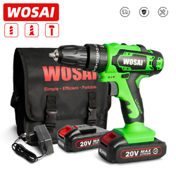 WOSAI QY Series 20V Electric Screwdriver Cordless Drill Impact Drill Power Driver Impact Hand Tools Lithium-Ion Battery 10mm