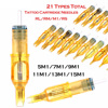 10pcs Pro Disposable Semi Permanent Makeup Tattoo Cartridge Needles Eyebrow Tattoo Pen Machine Supply 5M1/7M1/9M1/11M1/13M1/15M1