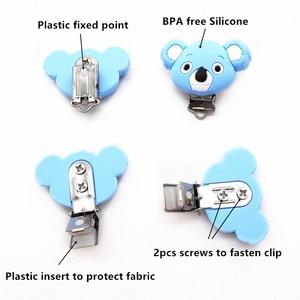 Image 5 - Chenkai 10PCS סיליקון קואלה קליפים DIY תינוק Teether מוצץ Dummy שרשרת מוצץ בעל תכשיטי סיעוד צעצוע קליפים BPA חינם
