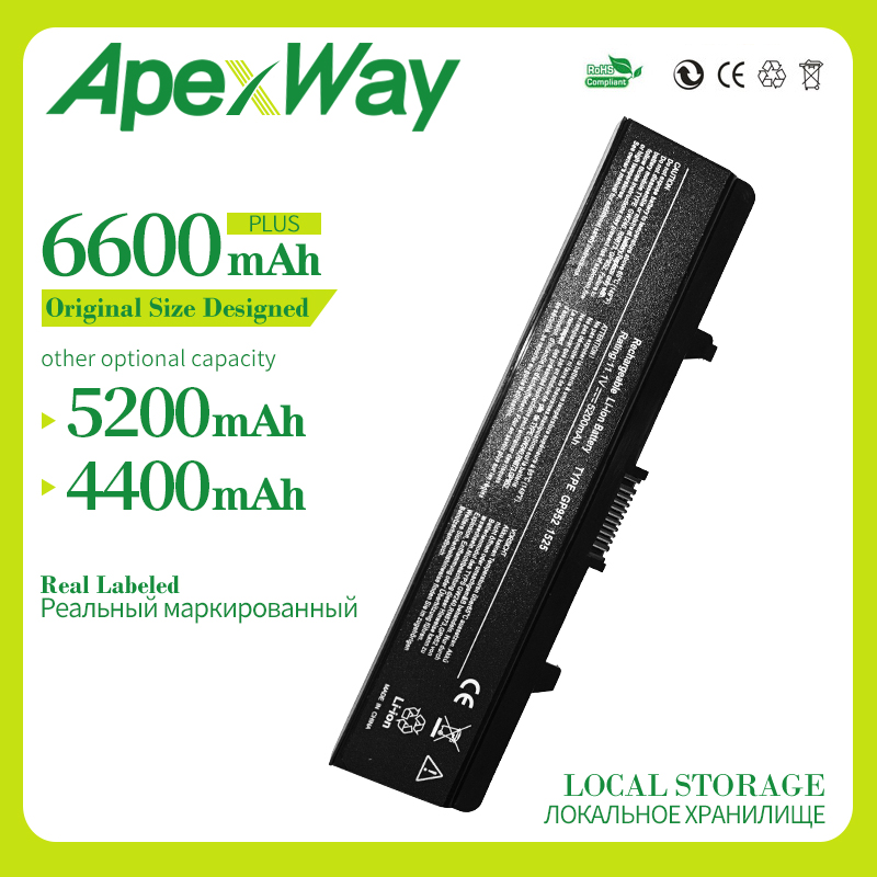 Apexway 11.1V Laptop Battery For <font><b>Dell</b></font> <font><b>Inspiron</b></font> 1525 1526 1545 1440 <font><b>1750</b></font> 0CR693 0GW240 0GW241 0GW252 0HP277 0HP297 0RN873 image