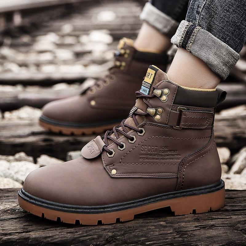 sapatos de neve dos homens sapato de