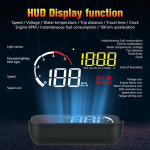 Image 3 - WiiYii M10 OBD2 HUD Head Up Display Car styling Display Overspeed Warning Windshield Projector Alarm System Universal Projector