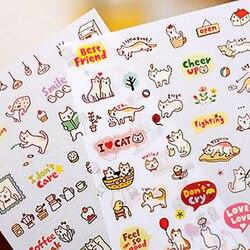 Nowy 2021 kreatywny śliczne pcv naklejka z kotem dla DIY Scrapbooking pamiętnik naklejka na telefon produkty projekt paster kawaii stacjonarne