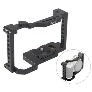 Image 5 - Andoer Camera Cage Video Stabilizer with Detachable Quick Release Plate Cold Shoe Mount for Sony A6500/A6400/A6300/NEX7 Camera