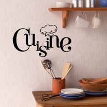 Cuisine Letter New Design Wall Sticker PVC Art Wallpaper Home Decor Removable Kitchen Stickers Mural Decoration halloween proverb letter removable wall sticker