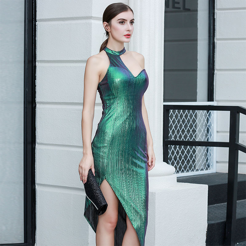 Image 4 - Sexy Street Bandage Dress Ladies Sleeveless Bodycon Night Club 