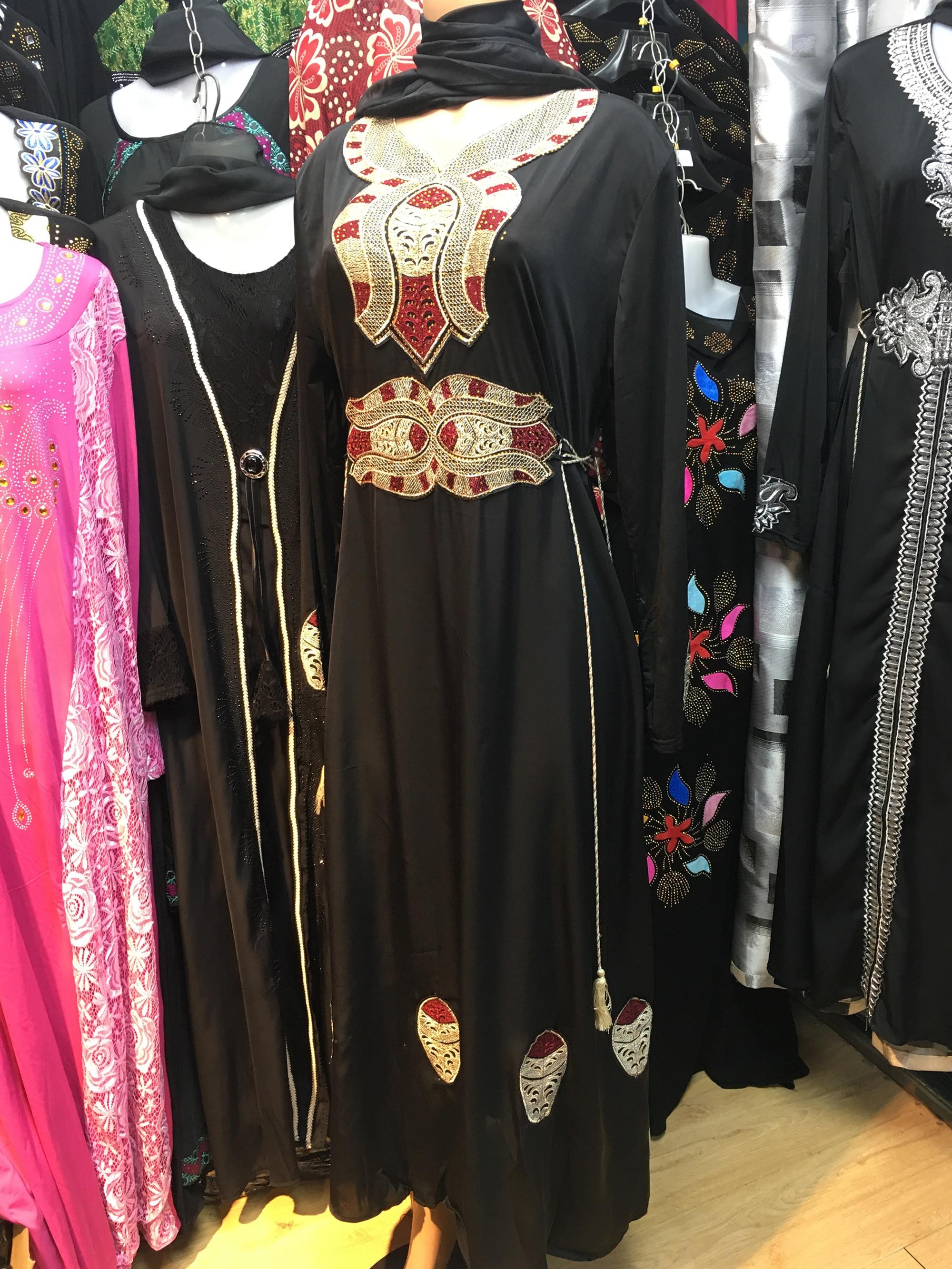 FREE SHIPPING Dubai Abaya Middle East Robe Ramadan Clothes Diamond  Embroide Kaftan Jibab Islamic Muslim Dress For Women