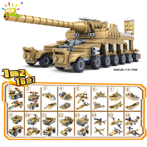 Image 3 - Huiqibao 544Pcs 16 In 1 Militaire Wapens Super Tanks Bouwstenen Assemblage Sets Educatief Bricks Speelgoed Voor Kids Kinderen
